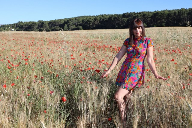 Shooting Photo au milieux des coquelicots