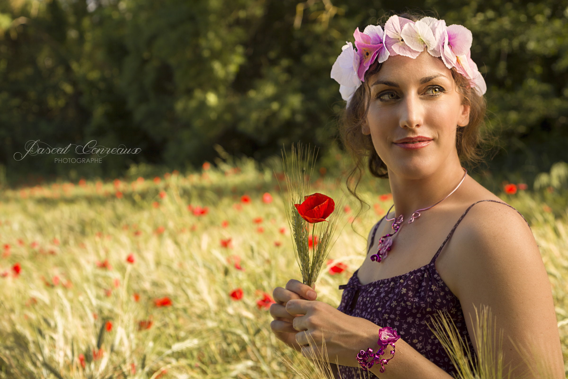 S ance photos shooting ext rieur th me coquelicots for Shooting photo exterieur conseil