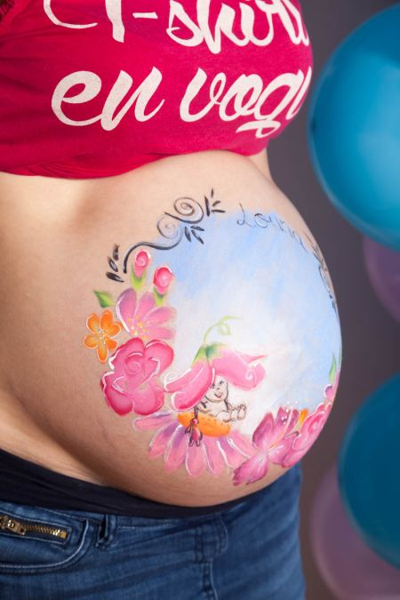 photographe belly painting femme enceinte marseille  MG 0031
