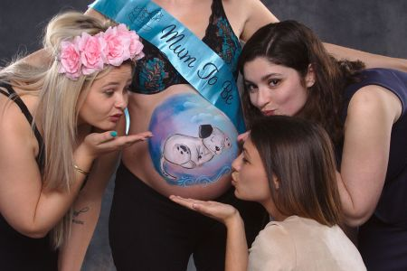 photographe pro grossesse femme enceinte seance maquillage belly painting marseille IMG 0169