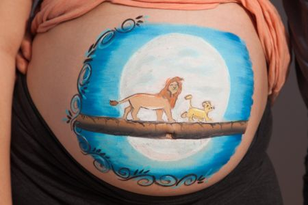 photographe belly painting roi lion  MG 0214